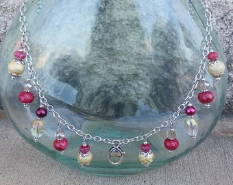 Treasure Keeper Necklace - Raspberry