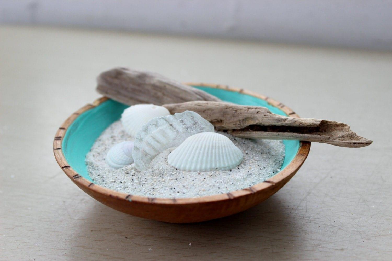 Sand and shell garden mini zen garden beach room - Japanese sand garden mini ...