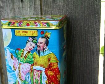 Vintage Asianl Jasmine Tea Tin