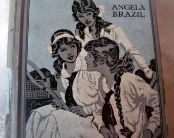 Vintage girl's book, Angela Brazil book, English writer, schoolgirl book, illustrated book, charming girls book, girl's fiction book