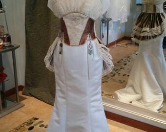 Steampunk Trumpet Wedding Dress Size 8