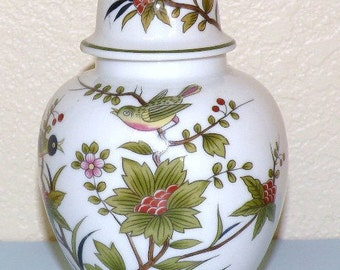 ANDREA by Sadek Japan GINGER Jar with Bird and Flower Motif