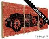 LARGE Race Car Wall Art - Race Car Print for Boys Room Decor - Custom Gift for Boys 16x48
