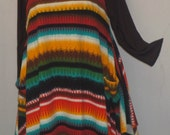 Plus Size Tunic, Coco and Juan, Plus Size Top, Lagenlook Layering Serape Stripe Knit Size 1 Fits 1X,2X  Bust  to 50 inches