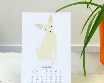 2017 Calendar, Dog Desk Calendar, Gifts Under 25, Dog Lover, Stocking Stuffer, Calendar with Display Easel, Dog Calendar, Dog