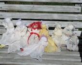 Vintage Hanky Babies, Prayer Dolls, Church Dolls are handmade from Ohio