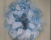 ON SALE.....baby shower wreath decoration