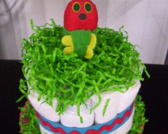 Hungry Catipillar diaper cake