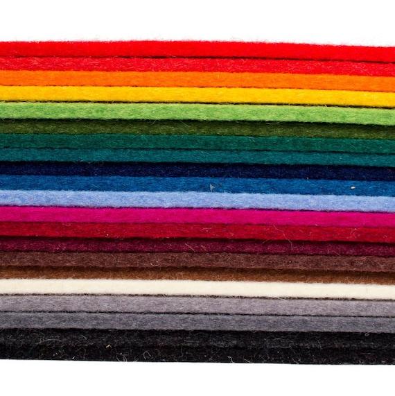 6 Quot X 6 Quot X 3mm Thick Designer Wool Felt Squares 100 Wool