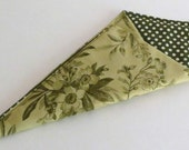 Scissors Holder, Double Pocket Carry Case, Green Flowers and Birds