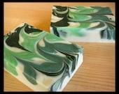 Margarita Lime Olive Oil Soap, Green & White Soap, Handmade Cocoa Butter Soap, Gift for Husband, Gift for Her, Gift for Friend