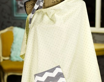 Butter Dot Chevy Nursing Cover