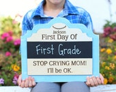 Personalized First Day Of Chalkboard School Sign Kindergarten First Grade Preschool CUSTOM Made Pick Your Color (NVMHDAY0753)