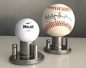 Industrial Art Atomic Modern Chrome Baseball Golf Ball Display Stand (1 Per Package) - Show off your balls