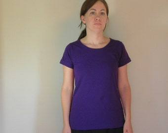 Womens Jersey Knit Cotton T Shirt Short Sleeves Made in the USA -Made to Order- Everday