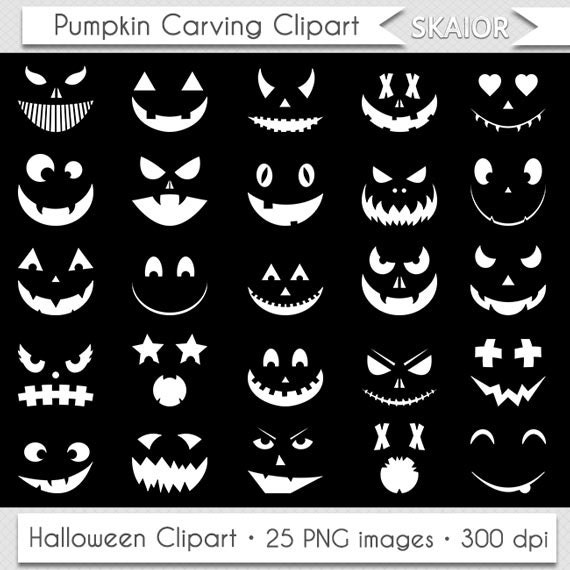 hnliche artikel wie wei e halloween k rbis clipart clipart k rbis schnitzen schablone monster. Black Bedroom Furniture Sets. Home Design Ideas