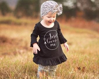 Jesus Loves Me, Infant, Toddler, Dress, Christian, Stylish, Trendy
