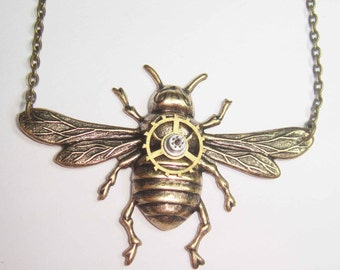 Hardware Bee Necklace