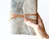 Leather Journal in Gray & Brown -Ascent- Leather Sketchbook Travel Journal Leatherbound Book Leather Notebook Gifts Under 50 for Him or Her