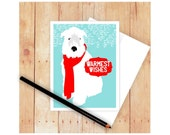 Wheaten Terrier Christmas Card Set, Dog Holiday Card Set, Seasons Greetings, Happy Hanukkah Card, Wheatie Art, Happy Holiday Cards