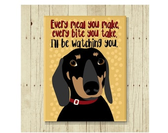 Funny Dachshund Magnet Perfect for Wiener Dog Lovers, Doxie, Fridge Magnet, Refrigerator Magnet, Sausage Dog