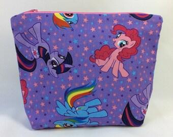 POUCH- My Little Pony: Rainbow Dash, Twilight Sparkle, Pinkie Pie **handmade**