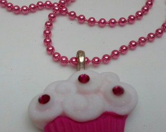 Necklace / Cupcake Necklace / Fun Necklace / Girls / Gift Idea