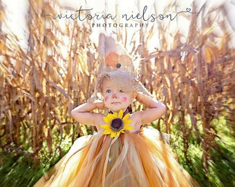 Sassy Little Scarecrow Tutu Dress- sz 0-5 YRS
