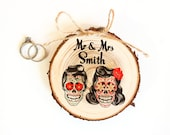 Fall Ring Bearer Pillow Rustic Wedding Halloween - Halloween Wedding - Day of the Dead Wedding