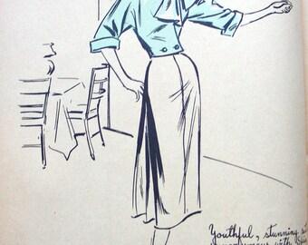 ORIGINATOR  Pattern 1212 * UNCUT * Fabulous Misses' ELEGANT Two Piece Evening Suit * Size 14 * Bust 32