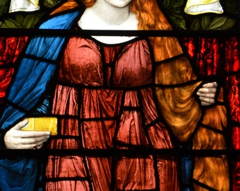 Mary Magdalene - Fine Art Canvas Print of Antique Stained Glass Window, NYC, Manhattan, Home Decor, Wall Art