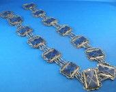 Elegant Lapis Stone Belt, Middle Eastern Tribal Belly Dancers Belt,LapisJewelry, Vintage Belt, Middle Eastern Jewelry, **USA ONLY**