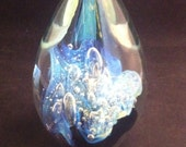 Robert Eickholt Signed Art Glass Amorphous designed Sculpture, Modern Glass, Eickholt Art Glass, 1990's Art Glass, Signed Eickholt USA ONLY