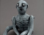 Nothing is Normal Norman -  Paper Mache - OOAK Art Doll - One of a Kind Spooky Guy - Wall Hanging