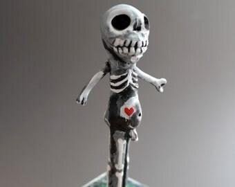 Cemetery Folk - Skeleton Man for Halloween Fun - One of A Kind - SALE