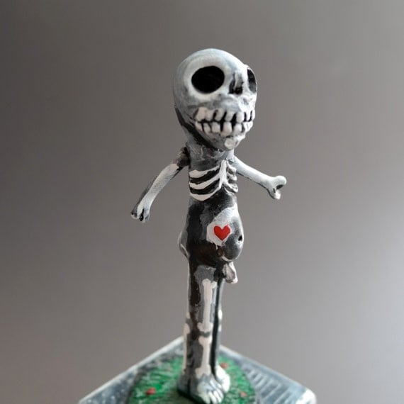 Cemetery Folk - Skeleton Man for Halloween Fun - One of A Kind - SALE