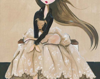 Amelie Best Friend Italian Greyhound Art Print