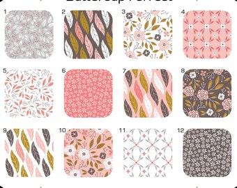 Changing Pad Cover  { Magnolia Collection } Pink Gray White floral leaves lattice