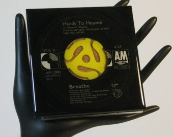 Breathe - Very Groovy Drink Coaster Made with The Original 45 rpm Record