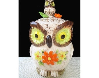 Vintage WINKING OWL Cookie Jar * JAPAN