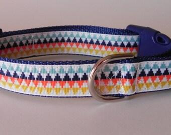 Triangle Stripes Geometric Dog Collar