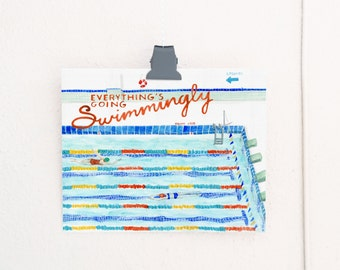 Everything's Going Swimmingly Art Print