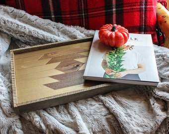 Reclaimed wood tray; serving tray, decorative tray, wood tray, vanity tray, wooden tray, jewelry tray, ottoman tray, barn wood, hostess gift