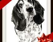 Pet Portrait Gift Dog Art Sketch