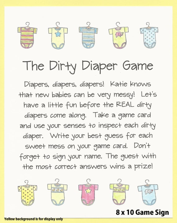 diaper baby shower game guess the mess onesie baby shower theme
