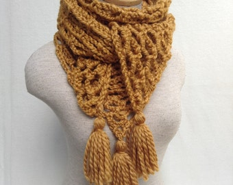 Crochet Scarf Shawl - 42 Colors Available