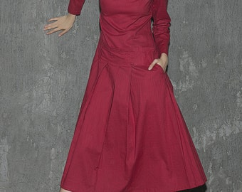 Women's Linen Prom Dress Maxi Dress (1313)