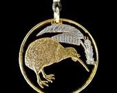 Cut Coin Jewelry - Pendant - New Zealand - Kiwi