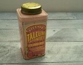 50% OFF SALE- Vintage Village Celebrated Talcum Powder Tin • Strawberry