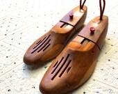 Vintage Wooden Shoe Lasts (Pair of 2)